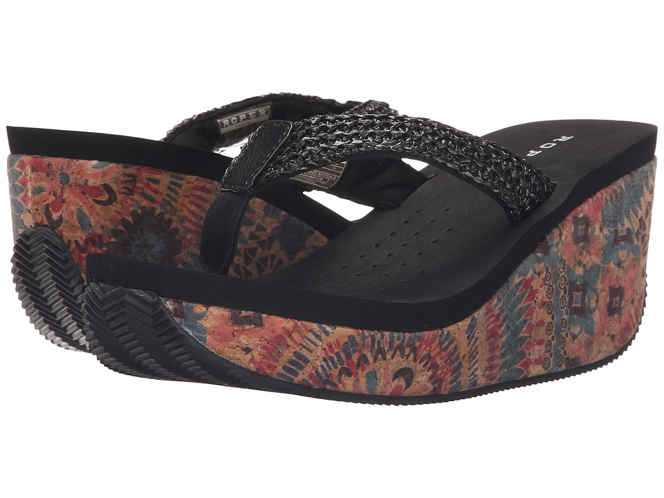 Roper - Arizona (Black) Women's Wedge Shoes
