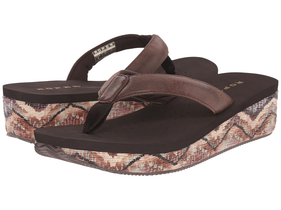 Roper - Wave (Brown) Women's Wedge Shoes
