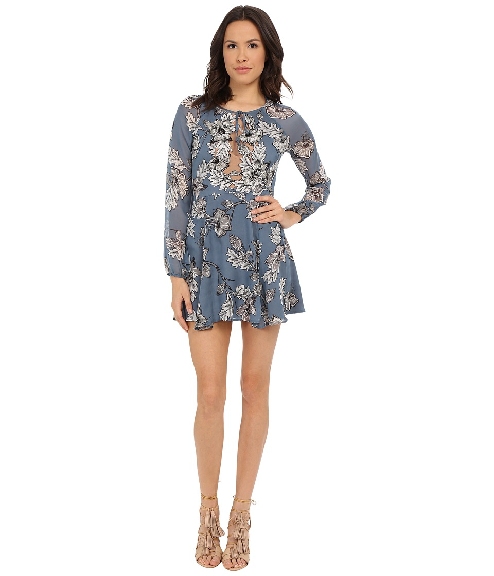 For Love and Lemons - Sierra Mini Dress (Vintage Blue Floral) Women's Dress