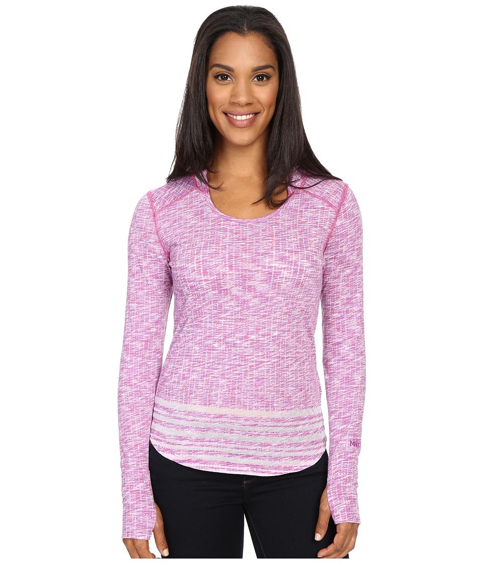 Marmot - Natasha Burnout Hoodie (Vibrant Fuchsia) Women's Sweatshirt