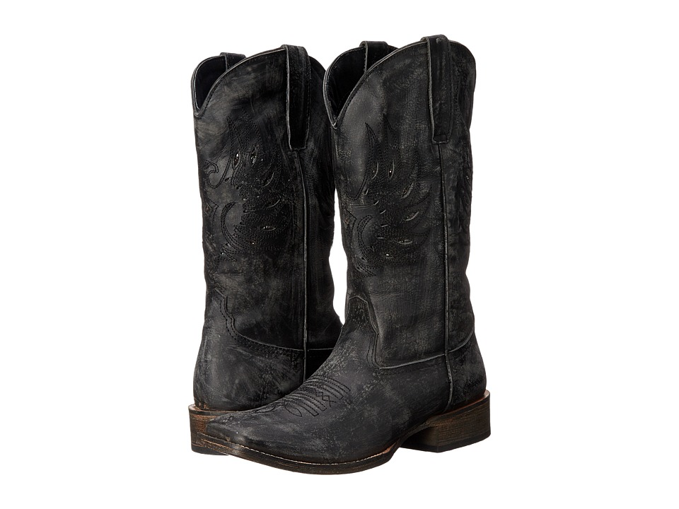 Roper - Eagle Wings (Black) Cowboy Boots