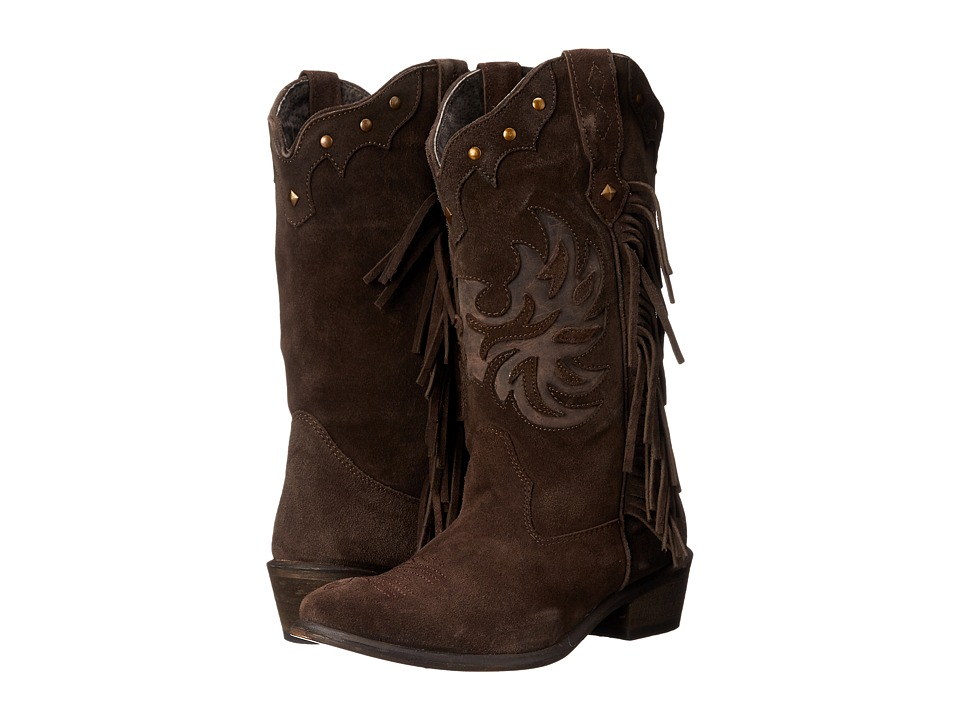 Roper Fringes (Brown) Cowboy Boots