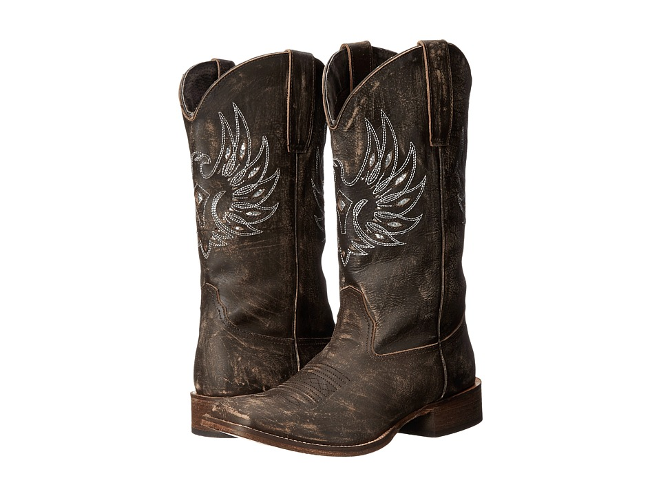 Roper - Eagle Wings (Brown) Cowboy Boots