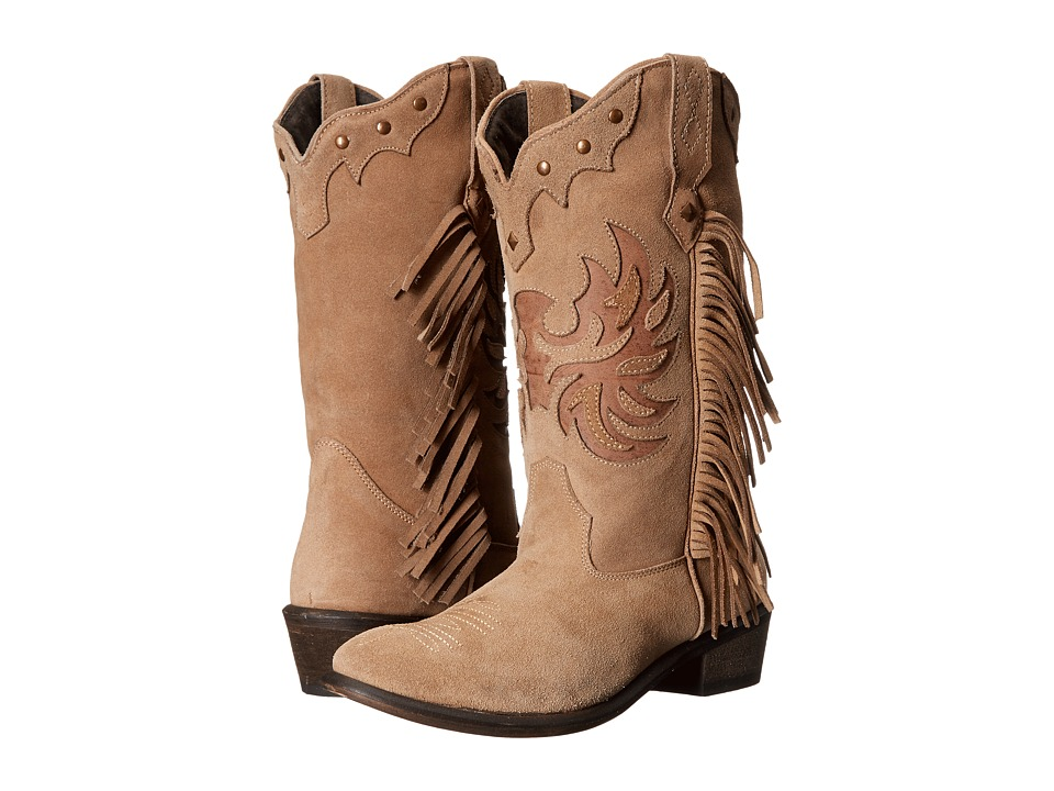 Roper Fringes (Light Beige) Cowboy Boots