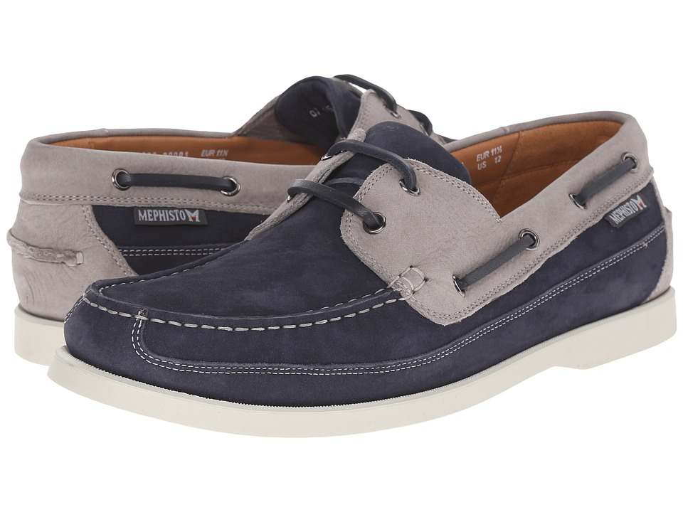 Mephisto - Boating (Navy/Light Grey Sportbuck) Men