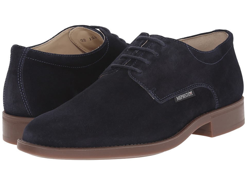 Mephisto - Cooper (Blue Suede) Men's Lace up casual Shoes