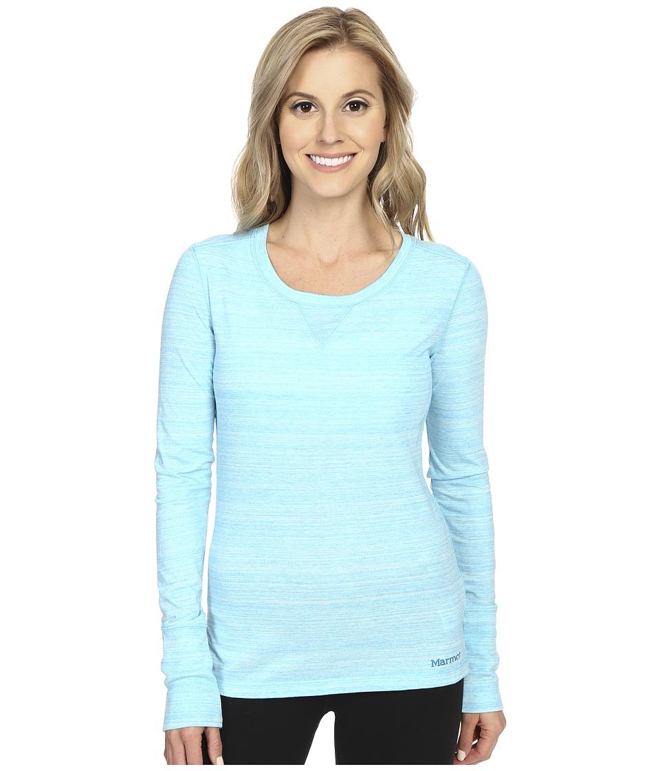 Marmot - Alyssa Long Sleeve (Blue Sea) Women's Long Sleeve Pullover