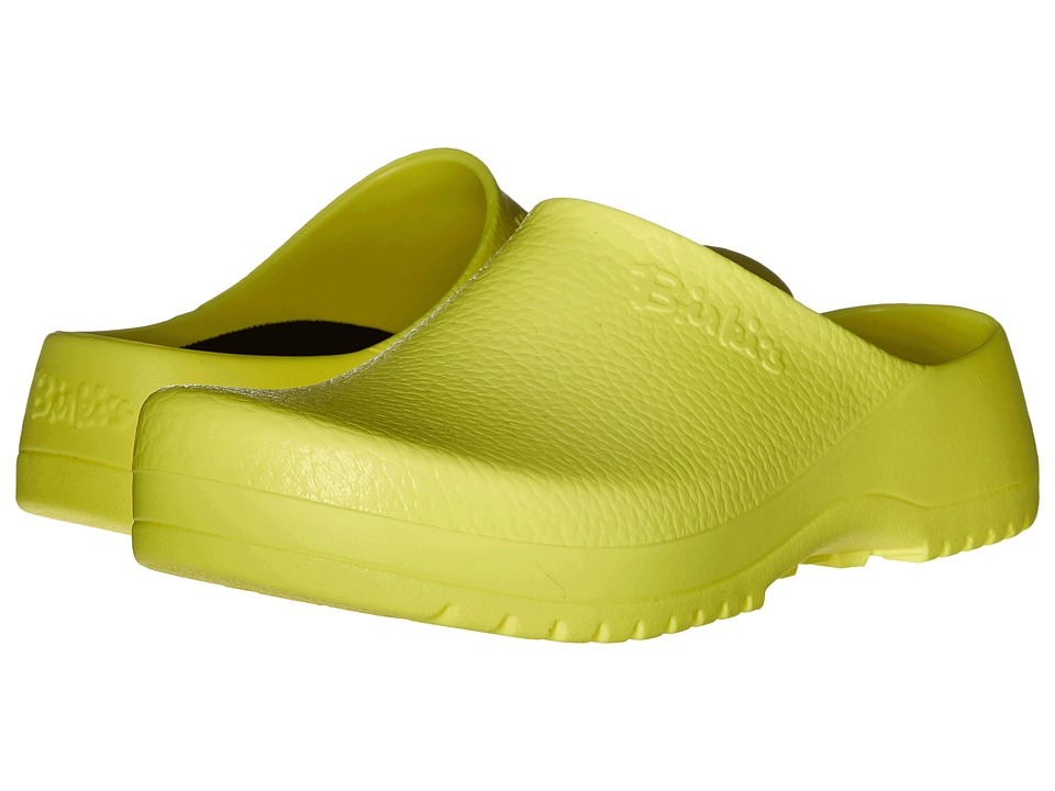 Birkenstock - Super Birki (Unisex) (Neon Yellow Polyurethane) Shoes