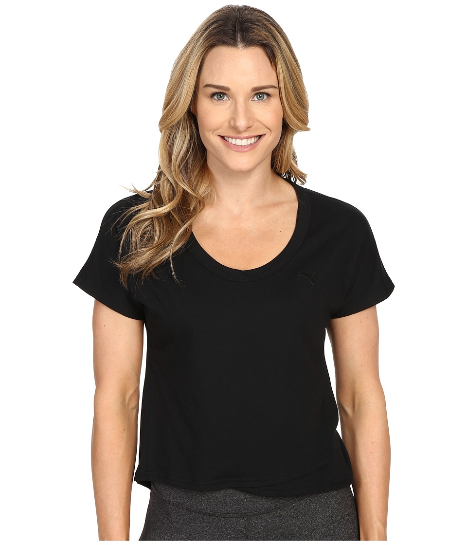 PUMA - Style PB Cross Over Tee (Black) Women's T Shirt