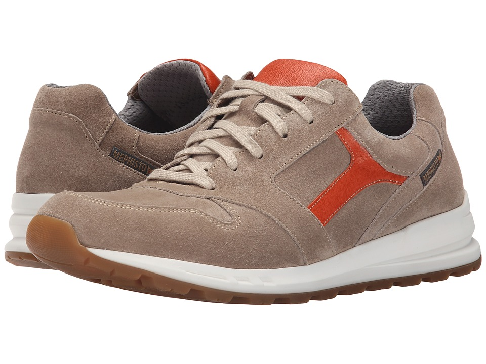 Mephisto - Trail (Sand Suede /Orange Cigale) Men's Lace up casual Shoes