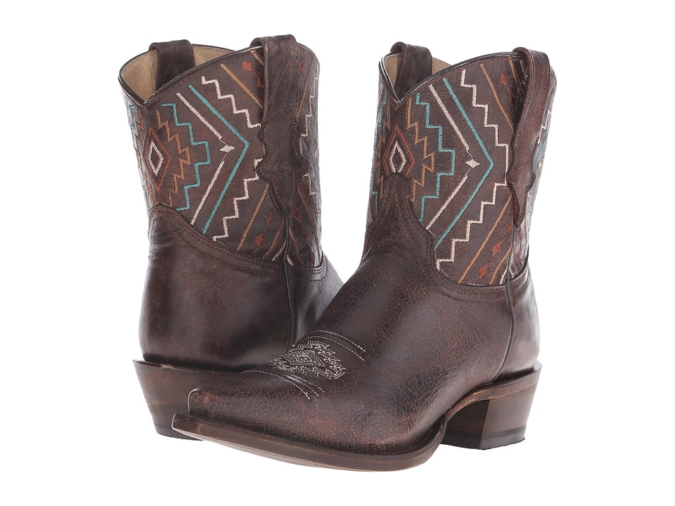 Roper Southwest Shorty (Brown) Cowboy Boots