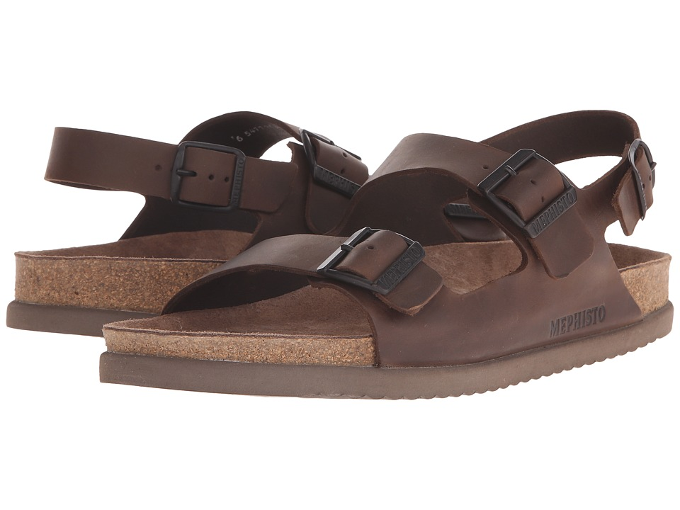 Mephisto - Nardo (Dark Brown Scratch) Men's Sandals