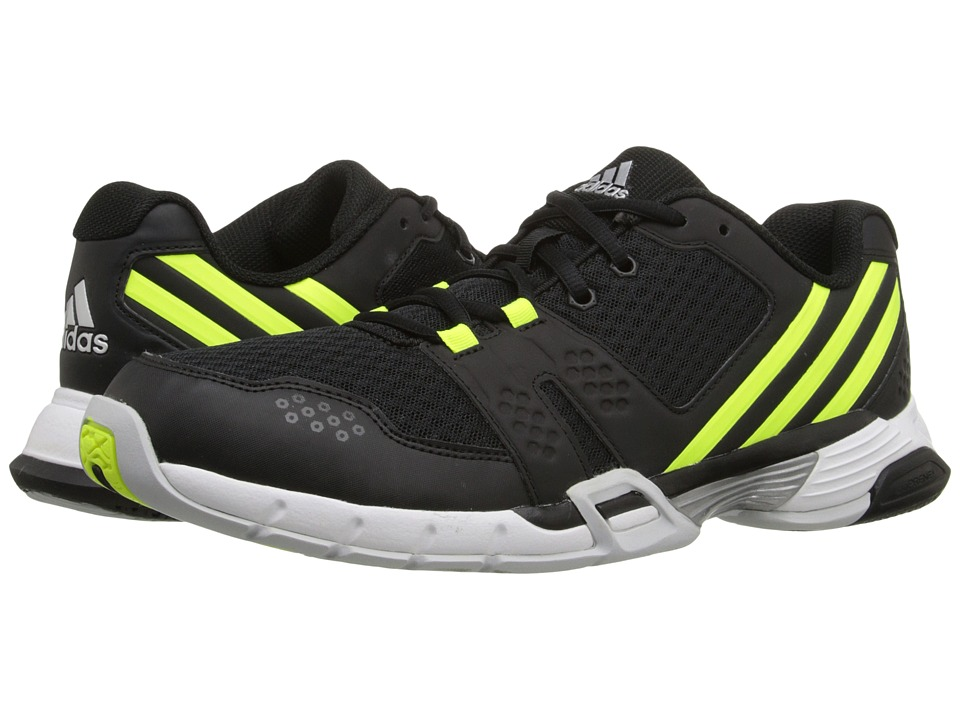 adidas - Volley Team 3 (Black/Solar Yellow/Clear Grey) Men's Tennis Shoes