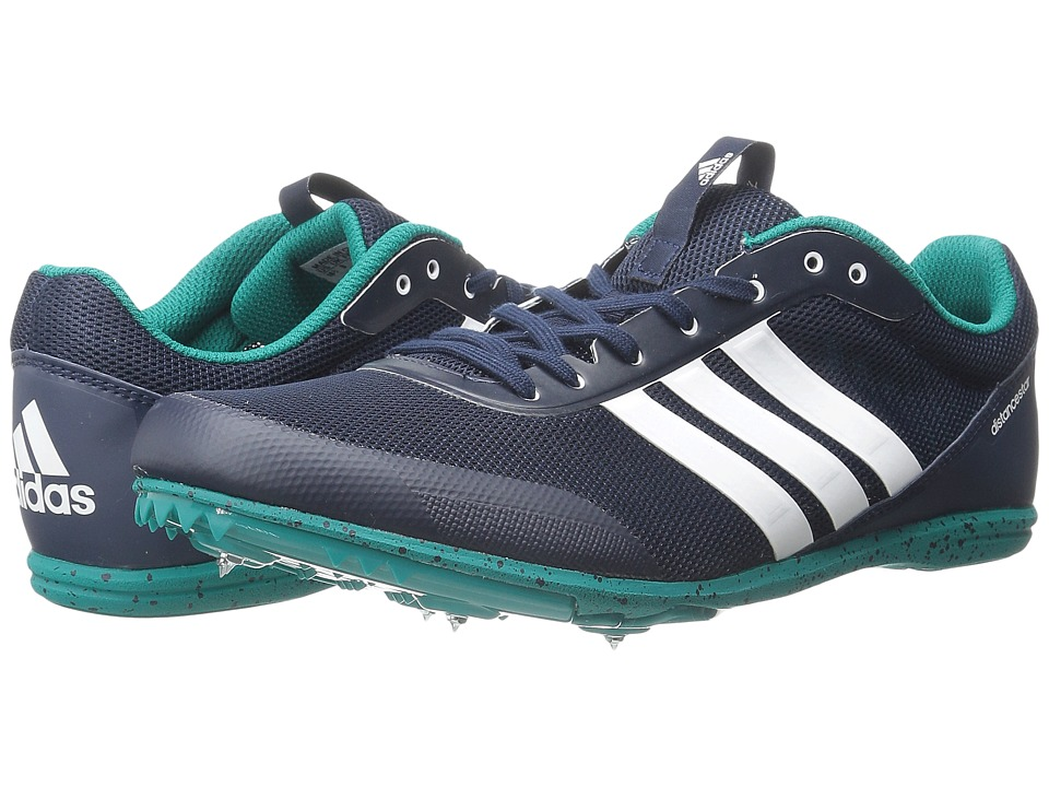 adidas - Distancestar W (Collegiate Navy/White/EQT Green) Women's Cleated Shoes