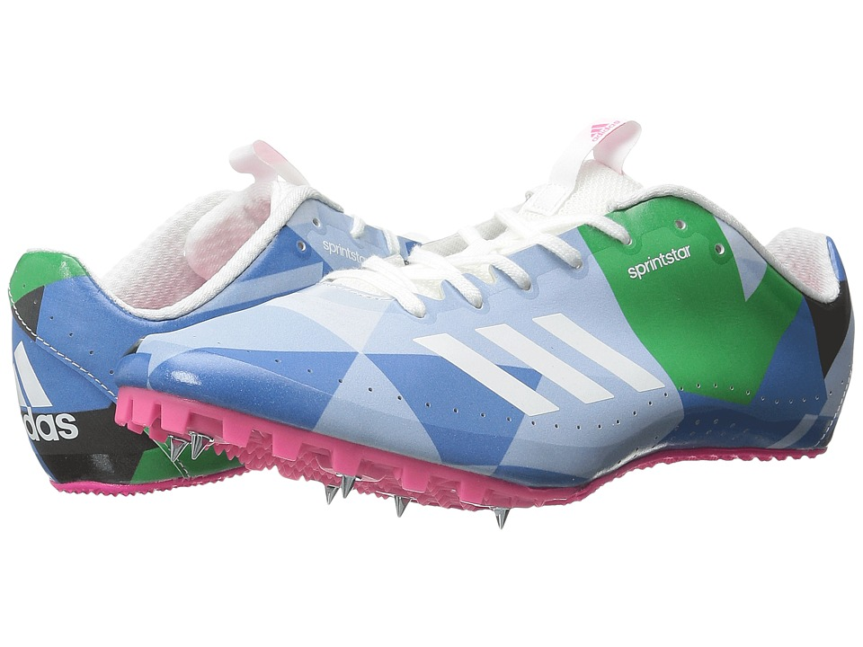 adidas - Sprintstar W (White/Shock Pink) Women's Cleated Shoes