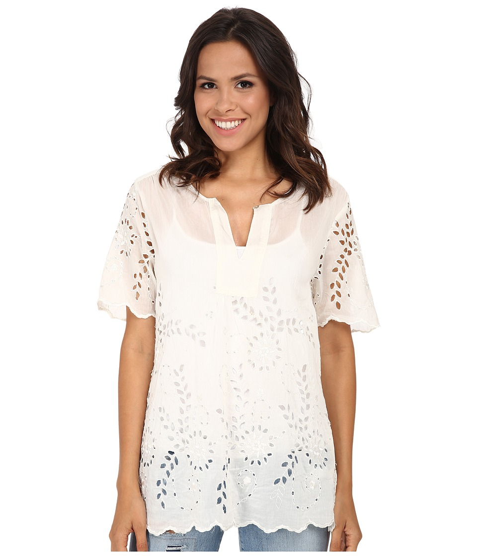 Dylan by True Grit - Daydream Blouse Cotton and Silk Eyelet (Malibu White) Women's Blouse