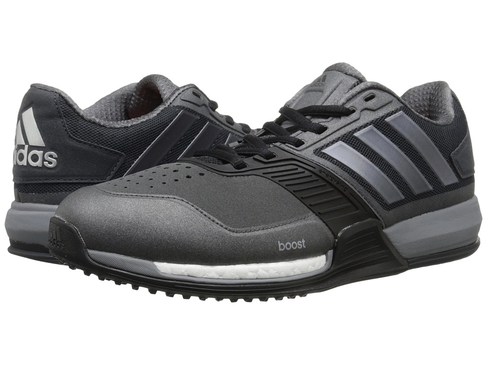 adidas - Crazytrain Boost (Dark Grey/Night Metallic/Solar Red) Men's Shoes