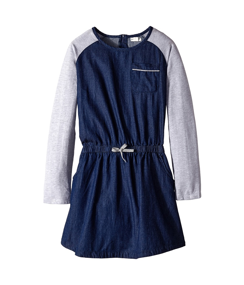 Pumpkin Patch Kids - Urban Folk Chambray Denim Dress (Little Kids/Big Kids) (Denim) Girl's Dress