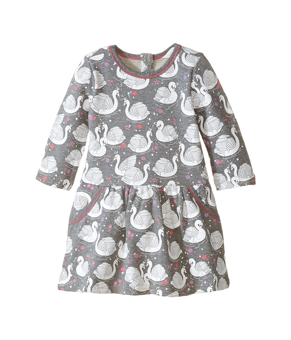 Pumpkin Patch Kids - Finding Anastasia Swan Print Dress (Infant/Toddler/Little Kids/Big Kids) (Shark) Girl's Dress