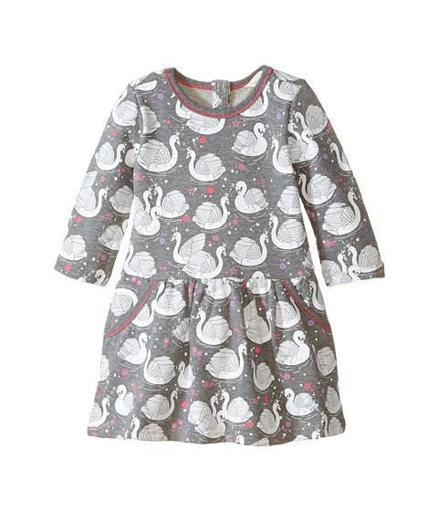 Pumpkin Patch Kids - Finding Anastasia Swan Print Dress (Infant/Toddler/Little Kids/Big Kids) (Shark) Girl