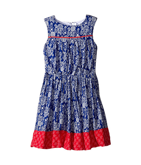 Pumpkin Patch Kids - Urban Folk W/S Floral Dress (Little Kids/Big Kids) (Blue Indigo) Girl