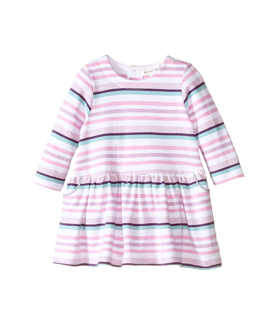 Pumpkin Patch Kids - Finding Anastasia Stripe Dress (Infant) (Lilac) Girl