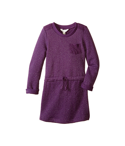Pumpkin Patch Kids - Finding Anastasia Milla Sparkly Sweat Dress (Little Kids/Big Kids) (Purple Passion) Girl's Dress