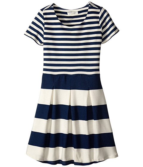Pumpkin Patch Kids - Urban Folk W/S Stripe Knit Dress (Little Kids/Big Kids) (Vanilla) Girl's Dress