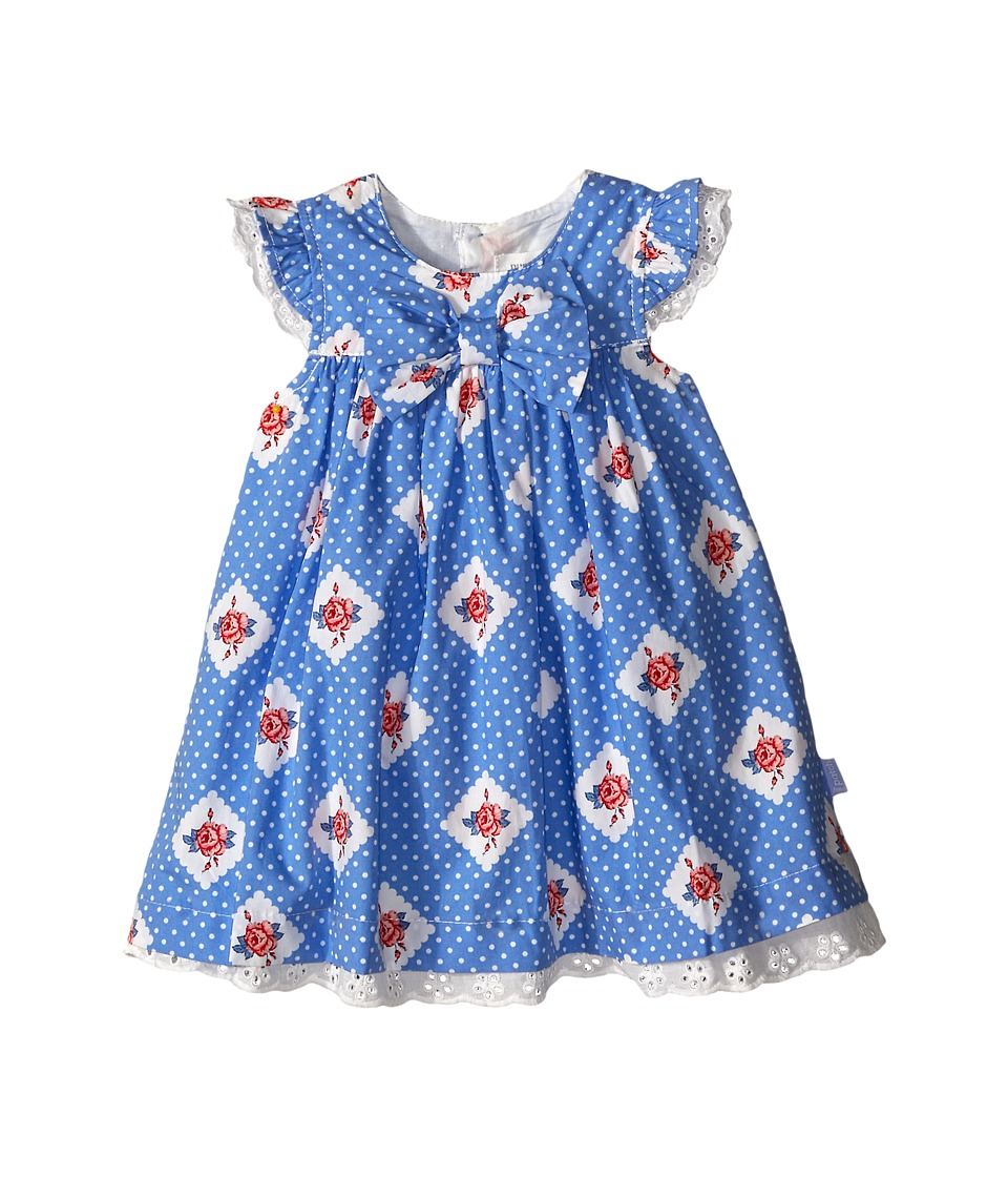 Pumpkin Patch Kids - Urban Folk Spotty Bow Dress (Infant) (Cornflower Blue) Girl's Dress