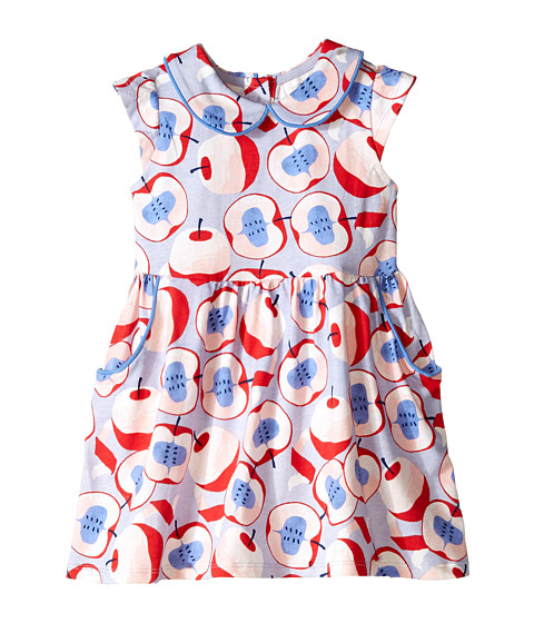 Pumpkin Patch Kids - Urban Folk Apple Print Knit Dress (Infant/Toddler/Little Kids) (Dream Blue) Girl's Dress