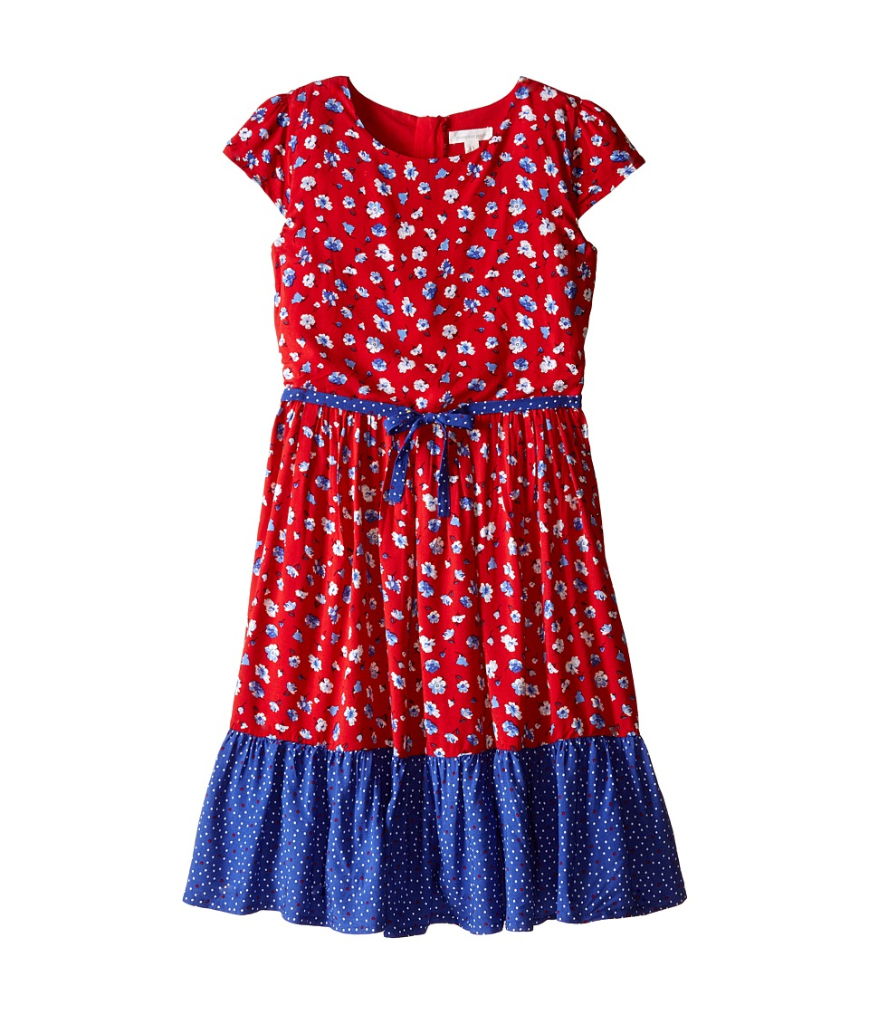 Pumpkin Patch Kids - Urban Folk Floral Tiered Dress (Little Kids/Big Kids) (Blue Indigo) Girl's Dress