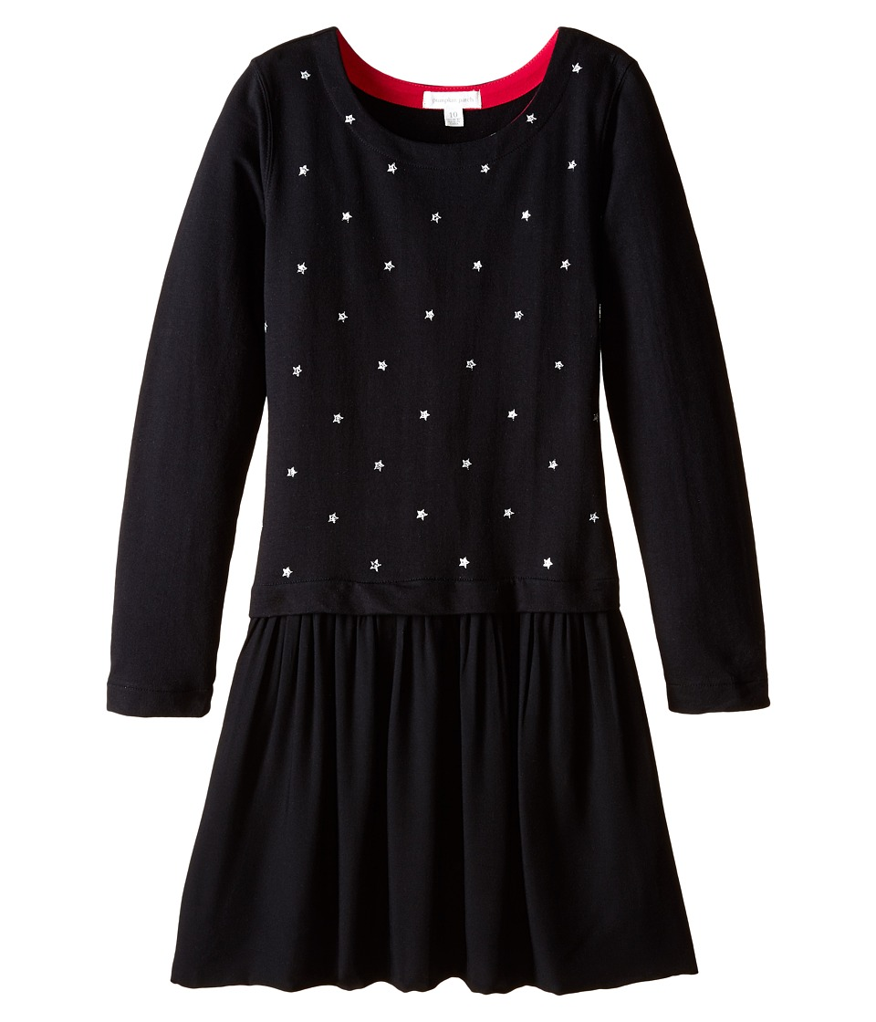 Pumpkin Patch Kids - Dance Academy Star Print Dress (Little Kids/Big Kids) (Black Ink) Girl