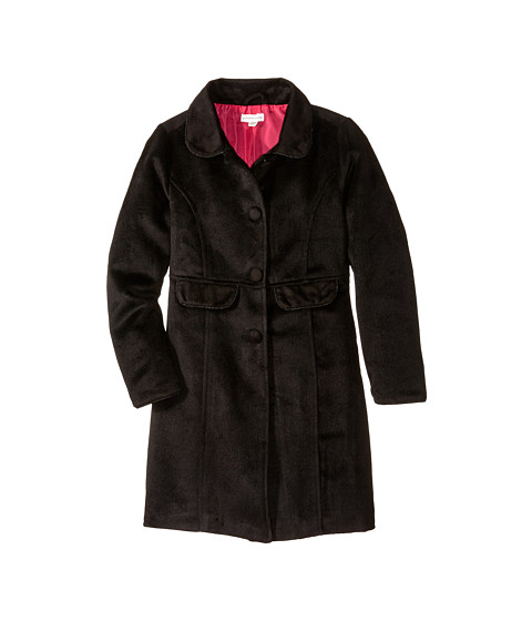 Pumpkin Patch Kids - Dance Academy Long Plush Coat (Little Kids/Big Kids) (Black Ink) Girl