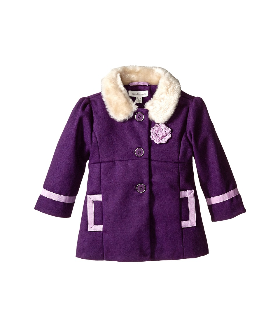 Pumpkin Patch Kids - Finding Anastasia Fur Collar Coat (Infant/Toddler/Little Kids) (Purple Passion) Girl