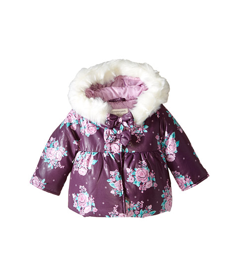 Pumpkin Patch Kids - Finding Anastasia Rose Print Puffer (Infant) (Purple Passion) Girl's Coat