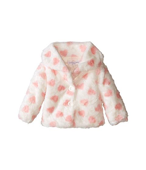 Pumpkin Patch Kids - Dance Academy Fluffy Hearts Jacket (Infant) (Vanilla) Girl