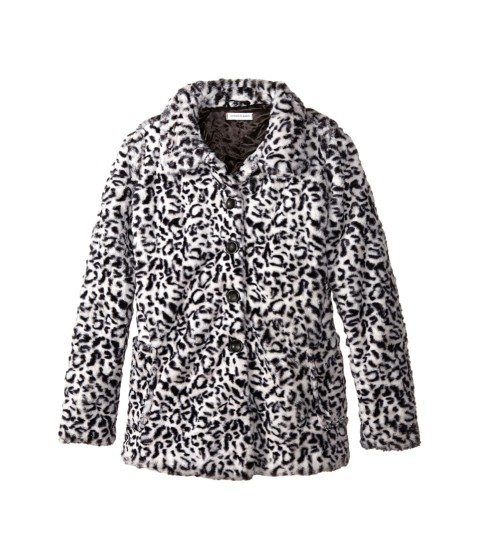 Pumpkin Patch Kids - Dance Academy Faux Fur Coat (Little Kids/Big Kids) (Black Ink) Girl's Coat