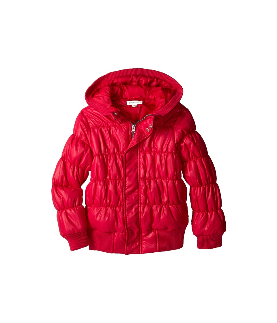 Pumpkin Patch Kids - Dance Academy Wet Look Padded Jacket (Little Kids/Big Kids) (Fuchsia Rose) Girl's Coat