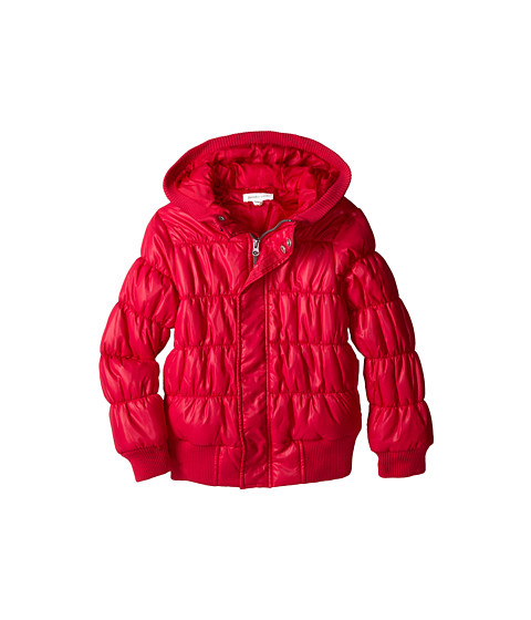 Pumpkin Patch Kids - Dance Academy Wet Look Padded Jacket (Little Kids/Big Kids) (Fuchsia Rose) Girl