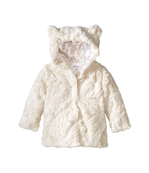 Pumpkin Patch Kids - Finding Anastasia Hooded Faux Fur Jacket (Infant/Toddler/Little Kids) (Honey) Girl's Coat
