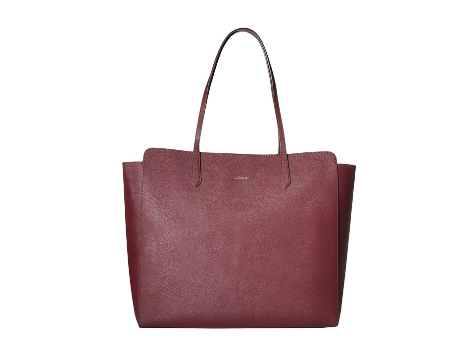 Lodis Accessories - Saffiano Jordyn Tote (Wine) Tote Handbags