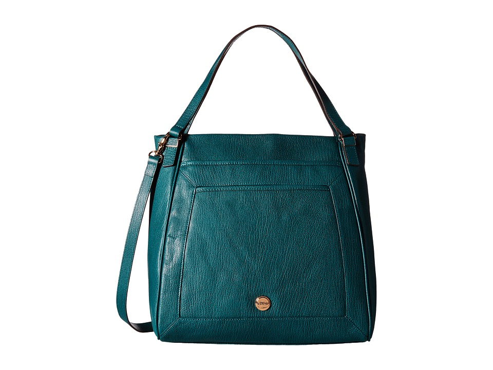 Lodis Accessories - Marcy North/South Tote (Teal) Tote Handbags