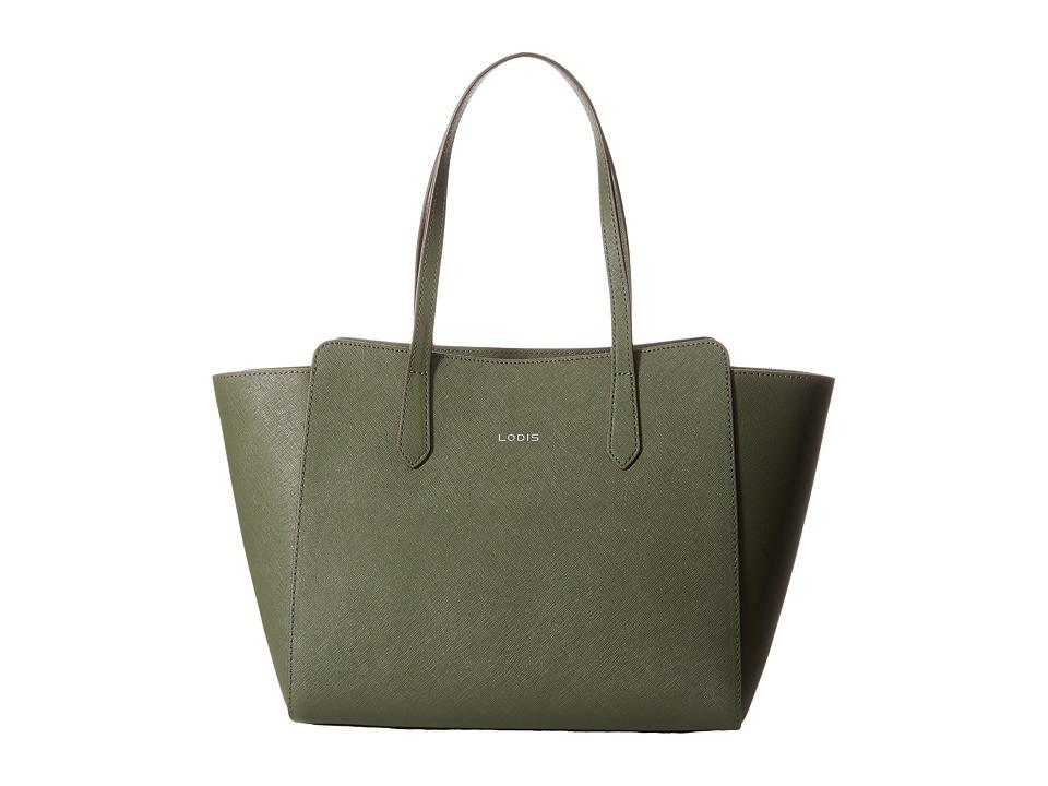 Lodis Accessories - Saffiano Tyler Satchel (Olive) Satchel Handbags