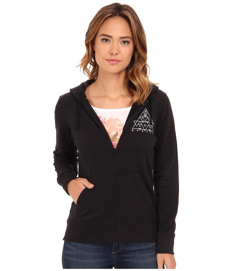 Hurley - The Dreamscape Icon Zip Fleece (Black) Women's Sweatshirt
