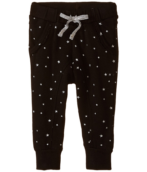Pumpkin Patch Kids - Dance Academy Metallic Star Print Joggers (Infant/Toddler/Little Kids) (Black Ink) Girl's Casual Pants