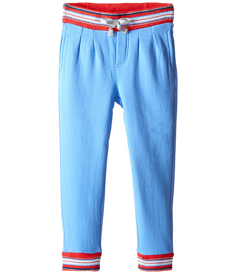 Pumpkin Patch Kids - Urban Folk Pleated Joggers (Infant/Toddler/Little Kids) (Cornflower Blue) Girl's Casual Pants