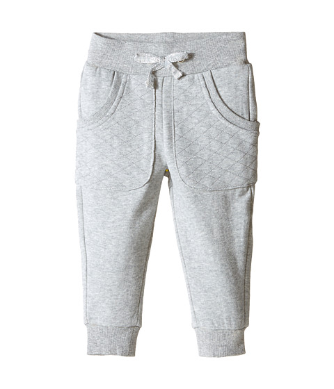 Pumpkin Patch Kids - Dance Academy Quilted Patch Pocket Joggers (Infant/Toddler/Little Kids) (Grey Marle) Girl