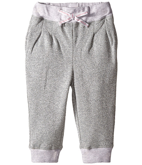 Pumpkin Patch Kids - Finding Anastasia Lurex Joggers (Infant/Toddler/Little Kids) (Gunmetal) Girl