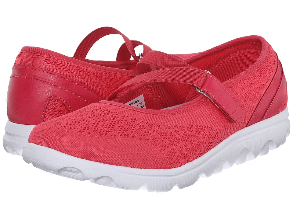 Propet - TravelActiv Mary Jane (Watermelon Red) Women's Shoes