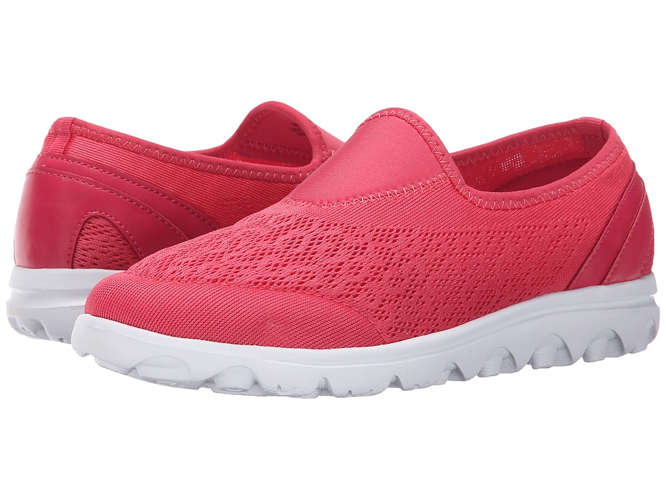 Propet - TravelActiv Slip-On (Watermelon Red) Women's Slip on Shoes